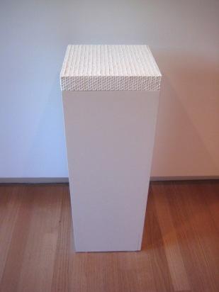 Pez plinth. Pez, glue and plinth
