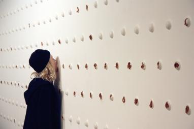 Goosebump. Installation documentation. Pfeffernusse and royal icing. 900x300cm.