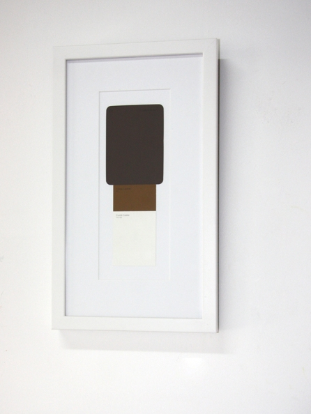 Caramel Slice. Paint samples including Creamy Chocolate, Chewy Caramel and Cookie Crumb, frame.
