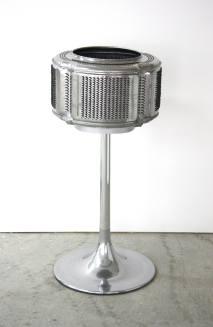 Economy. Washing machine drum, licorice, table base. 60x60x120cm