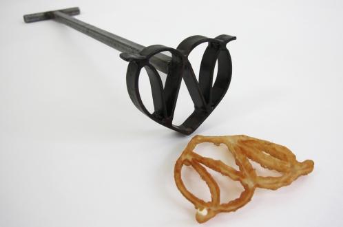 Custom branding iron for frying swedish rosette cookies