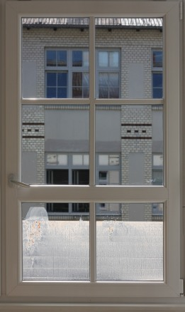 Half-full. Chocolate milk powder, milk, and window. window dimensions 170x70cm