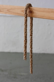 Untitled. TalkMURU cereal and saliva. 7x2x40cm