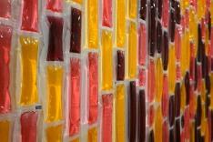 Pink Poles (detail). Icy poles. 200x70x2cm