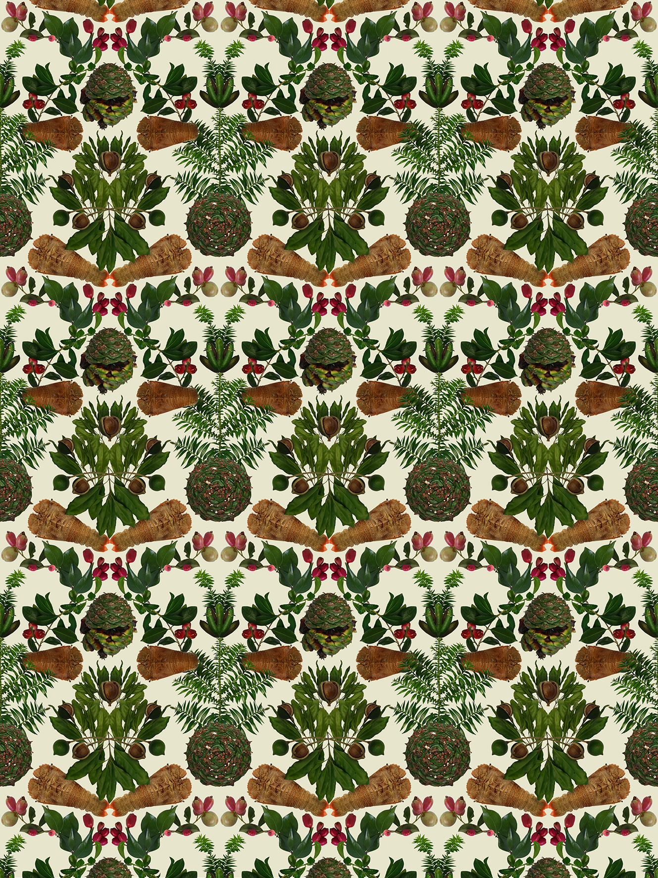 Strawberry Thief After William Morris Wallpaper Print