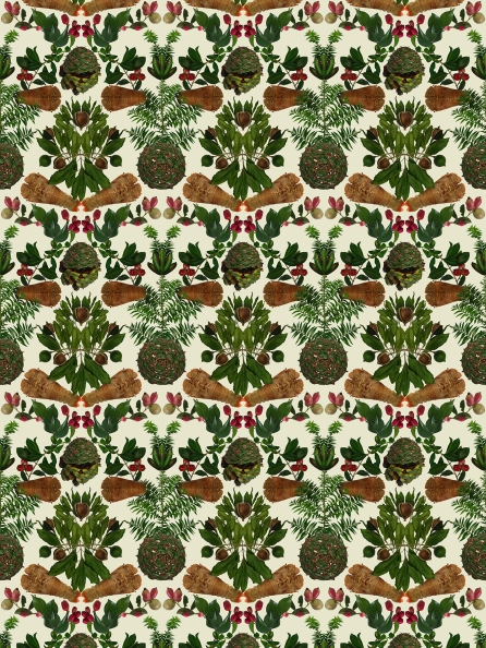 Strawberry Thief (after William Morris). Wallpaper print