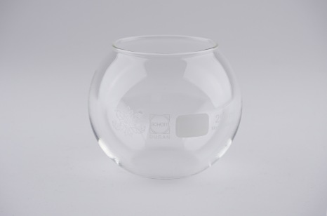 Pacify. Laboratory glass with etching and hole Numbered series of etched glasses