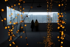 Cheeseburn. Cheetos and Fairy lights. MCA ARTBAR – Curated by Lara Merrett, Museum of Contemporary Art Australia, February 2019, photograph: Liam Cameron