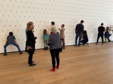 Goosebump. Pfeffernüsse and royal icing on wall. 18 x 5 metres. Photo courtesy of Tinguely Museum and Annja Mueller